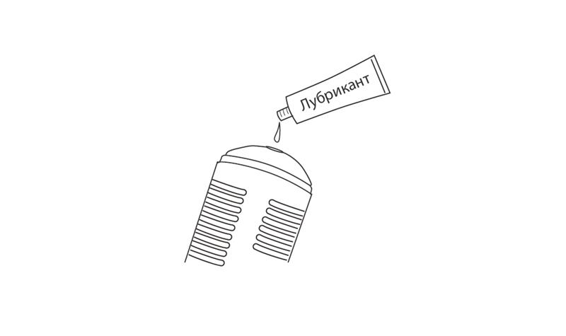 Нанесить основанный на водной базе лубрикант внутреннию часть рукава Max от Lovense.