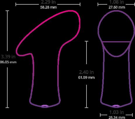 Размеры Ambi от Lovense.