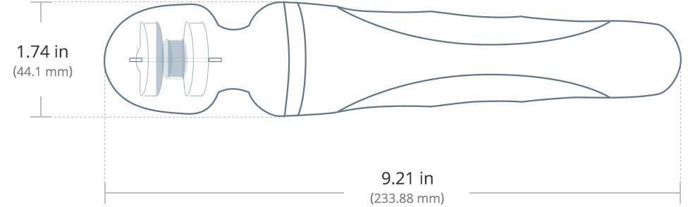 Die Maße von Domi von Lovense, der beste Stabvibrator