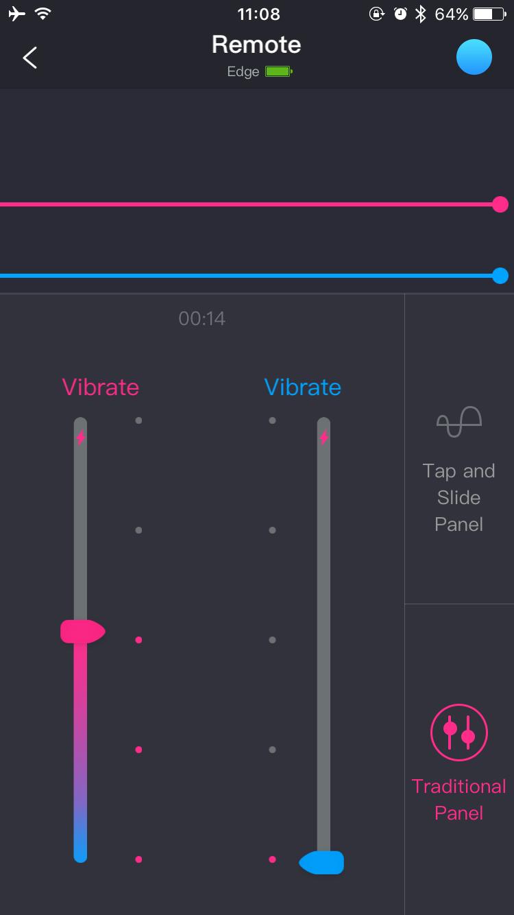 Скриншот приложения Lovense Remote: традиционный режим управления.