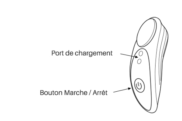 Osci de Lovense instruction des boutons.