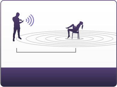 Hushのアナルプラグは10フィートまでの座位位置でコントロール可能です。