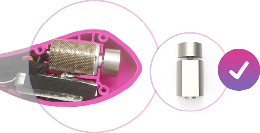 The battery of Lush 2 - the most powerful remote-controlled egg vibrator.
