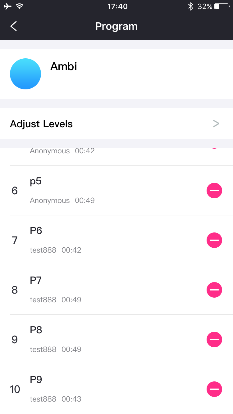 The Lovense Remote app screenshot: Up to 10 Patterns