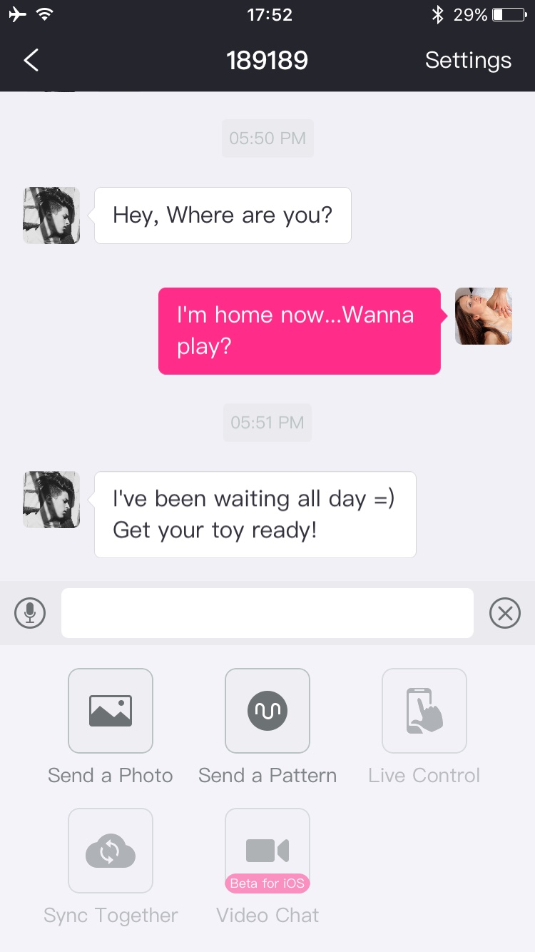 The Lovense Remote app screenshot: long-distance control options.