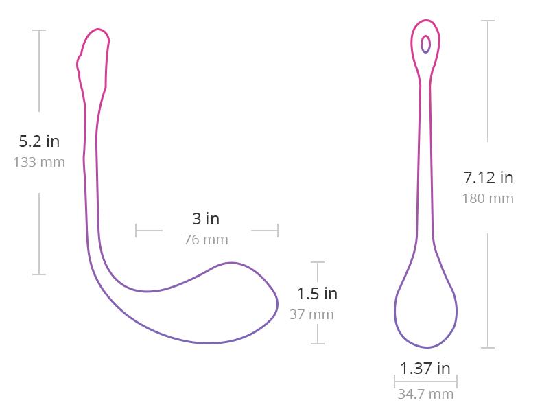 Размеры Lush 2 от Lovense.