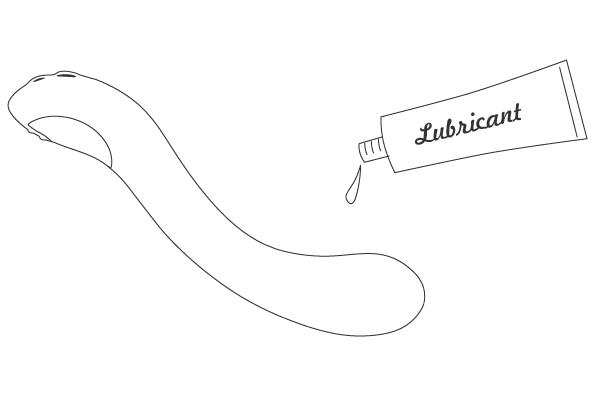 Aplicando lubricante a base de agua a Osci by Lovense.