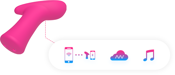 Lovense Remote allows you to customize your vibrations and save up to 10 patterns that will be remembered by Ambi's button.