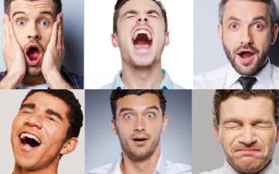 row of men's faces