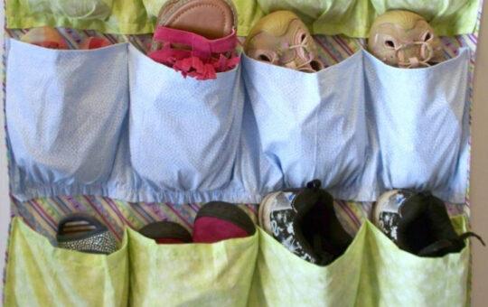 Hanging shoe organizer.
