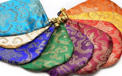 Satin chinese bags