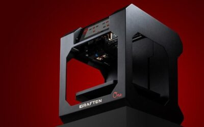 3d printer, red background