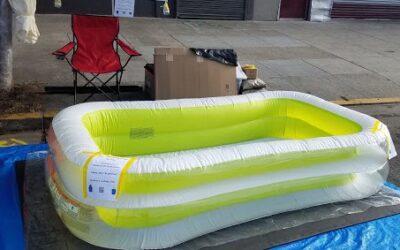yellow inflatable pool