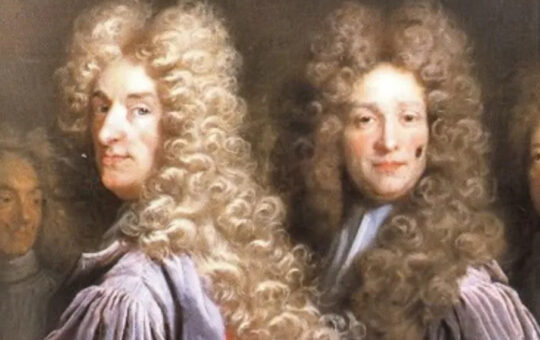 old painting of men in wigs